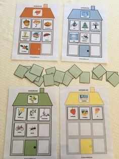 Kategori-hus | Språkhjerte - Logoped Kindergarten, Montessori, Art Drawings, Preschool, Teacher, Activities, Cartoon, Halloween, Holiday Decor