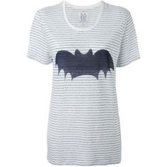 Zoe Karssen Bat Oversized T-Shirt ($90) ❤ liked on Polyvore featuring tops, t-shirts, white, white linen tee, bat t shirt, batting tee, zoe karssen und oversized tee