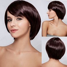 Diy-Wig Short Pixie Style Classic Dark Brown Full Head Wi…