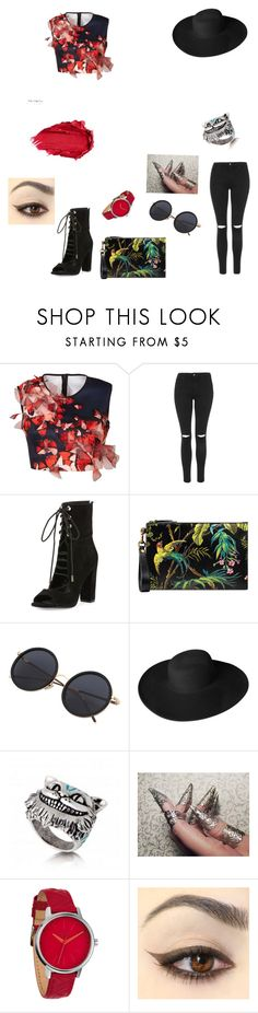 """""""Untitled #38"""" by starlord221b on Polyvore featuring Clover Canyon, Topshop, Kendall + Kylie, Gucci, Dorfman Pacific, Nixon and Urban Decay"""