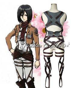 Attack on Titan Shingeki no Kyojin Belts and harness w/skirt - $59 (Ver.2)
