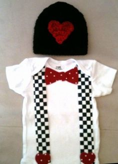 Valentine's Day outfit for baby boys  Suspender and by rbsDesigns, $39.00