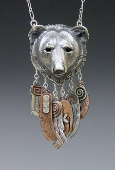 Bear Jewelry Handcrafted Silver Jewelry with Charm