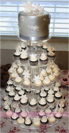 Winter Cupcake Tower