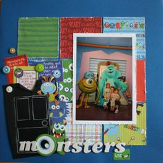 Monsters Inc. by jessicajdesigns @2peasinabucket