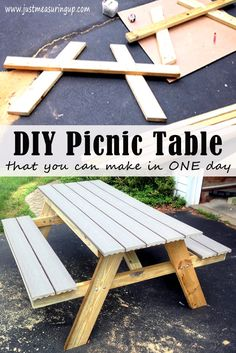Build A Picnic Table In One Day