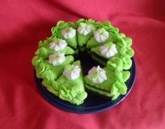 Hand Stitched Eight Piece Layered Felt Play Food Cake by dollfashiontastic on Etsy