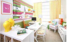 Bravado Design Office Space and Randomness – Cool Office Space Bureau Design, Home Office Organization, Office Decor, Office Ideas, Organization Ideas, Lilly Pulitzer, Beach Chic Decor, Cool Office Space, Office Spaces