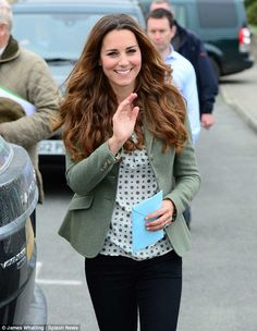 The Duchess of Cambridge undertook her first public engagement following the birth of her baby this morning