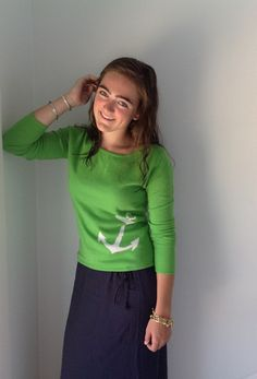 Colorful Anchor Sweater
