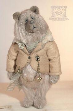 Maximilian by Olga Vishnevetskaya Teddy Bears For Sale, Vintage Teddy Bears, Cute Teddy Bears, Needle Felted Animals, Felt Animals, Big Stuffed Animal, Stuffed Animals, Sewing Crafts, Sewing Projects