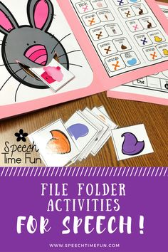 Do you want interactive activities that are easy to prep and tons of fun? File folder activities are the answer! Check out my favorites for speech and language therapy!!