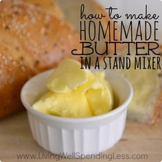 Homemade butter is soooo yummy and creamy! Have you ever made your own?