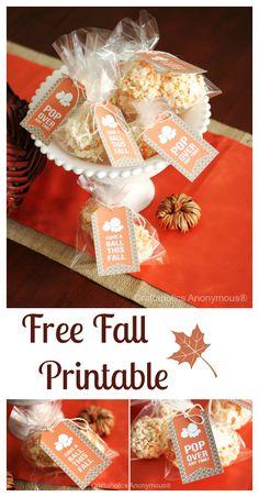 Fall printable: Popcorn Ball Tags http://www.craftaholicsanonymous.net/fall-printable-popcorn-ball-tags #fall #printable #popcorn