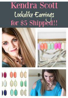Love Kendra Scott earrings? You can get these cute lookalike earrings for just $5 shipped!