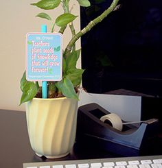 Plant Tags | 9 Quick and Easy Teacher Appreciation Gifts | PTOToday.com