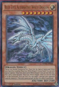 Yu-Gi-Oh! - Blue-Eyes Alternative White Dragon - The Dark Side of Dimensions Movie Pack - Edition - Ultra Rare by Yu-Gi-Oh! Yu Gi Oh, Magic The Gathering, Yugioh Dragons, Dark Side Of Dimensions, The Dark Side, Yugioh Monsters, Yugioh Collection, Galaxy Eyes, Monster Cards