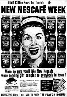 Vintage Ad Great News Toronto - It's Nescafe Week!
