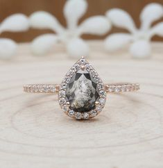 2.35Cts London Blue Topaz Engagement Ring,Vintage Art Deco Moissanite Ring,14k Rose Gold Vermeil Unique Filigree Ring Gift For Anniversary.