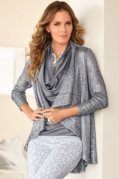 Boston Proper Fur collar drape cardigan #bostonproper | Fall ...