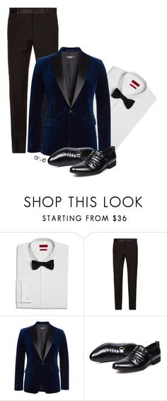 """""""Formal Men [01]"""" by myxvonwh on Polyvore featuring HUGO, Dolce&Gabbana, Dsquared2, Montblanc, men's fashion and menswear"""