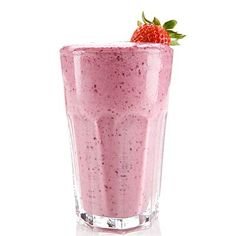 Strawberry-banana smoothie: Blend one-half cup frozen strawberries, one-half cup frozen banana slices, 6 ounces skim milk, and one tablespoon natural peanut butter.