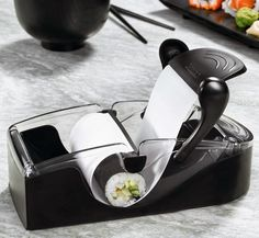 """Máquina para sushi y rollitos PERFECT ROLL para preparar deliciosos sushi y rollitos. Fácil de usar y bueno para hacer nuevos platos de estilo """"japonés"""""""