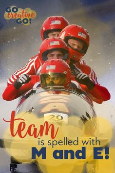 """Team Building: Team Does Have The Letters M and E   When it comes to team building, there may not be an """"i"""" in team – but the letters M and E are present and prominent, and POWERFUL!"""