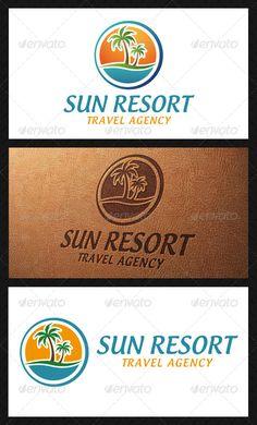 Sun Resort Logo Template