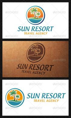 Sun Resort Logo Template — Vector EPS #eco clothing #sport corporate • Available here → https://graphicriver.net/item/sun-resort-logo-template/5084234?ref=pxcr