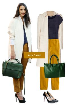 needed: yellow pants and a great spring coat.