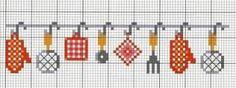 Resultado de imagem para ponto cruz graficos gratis motivos cozinha