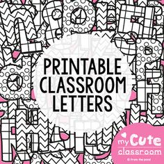 Printable Bulletin Board Letters – Let's be Franco Printable Bulletin Board Letters FREE! Printable bulletin board letters for your classroom displays. Make your back-to-school decorating a breeze with this fun alphabet! Teen Bulletin Boards, Spring Bulletin Boards, Back To School Bulletin Boards, Preschool Bulletin Boards, Bulletin Board Display, Classroom Activities, Classroom Ideas, Bulletin Board Ideas For Teachers, Classroom Projects