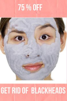 Get Rid of Blackheads with our Charcoal Blackhead Mask. This Carbonated Bubble Clay Charcoal Blackhead Mask is both a deep-cleansing makeup remover like a homemade blackhead cream! It's formulated with key ingredients like charcoal powder, green tea extracts and collagen. Our Original Charcoal Blackhead Mask. 75 % Off  #blackheadsremovalmask #HomeMadeBlackhead #blackheadsremovalmaskproducts  #CharcoalBlackheadMask #homemadeblackhead #charcoalblackheadmask #blackheadsremovalhomemade #blackhead Best Blackhead Mask, Best Blackhead Treatment, Blackhead Remover Homemade, Blackheads Removal Cream, Get Rid Of Blackheads, Pimples, Carbonated Bubble Clay Mask, Coconut Oil For Skin, Clay Masks