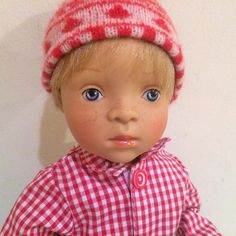 Always great to find a well designed boy doll to add to your #dollcollection. Offering here a #SylviaNatterer Petitcollin NIB 2015 Minouche Luc Boy Doll with the cutest freckles!