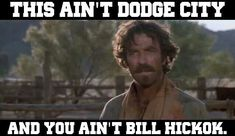 Tom Selleck as Mathew Quigley in Quigley Down Under.