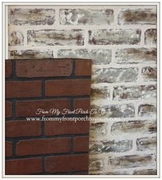 I might be able to use this for my backsplash. DIY Faux Brick Wall Tutorial- From My Front Porch To Yours