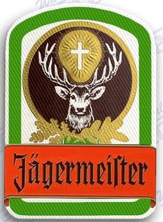 jagermeister - IRON ON 100% EMBROIDERED EMBROIDERY PATCH - 3.5 x 2.5 INCHES 100% EMBROIDERED PATCHES - SEW IT ON OR IRON IT ON OR JUST ADD TO YOUR COLLECTION liquor shots alcohol alcohol
