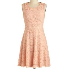 Modcloth Pink Lace Dress. Worn Once. Runs Big.