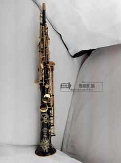 Big sale Wholesale - France Henri selmer B soprano saxophone Super action 80 series II gold-bonded black body