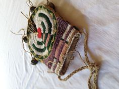Beaded pouch detail, researched and executed by Hal Barbour
