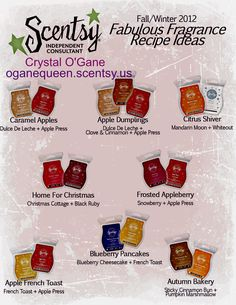 Like experimenting with your Scentsy scents? Here's some great ideas for making your house smell perfect for Fall!