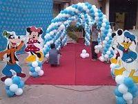 Cartoon theme decoration at entry gate.