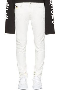B&WApril77 - White Joey Milk Jeans