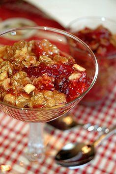 Apple Cranberry Crumble)