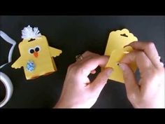 Scallop Tag Topper Punch Easter Chick with Deb Valder - YouTube