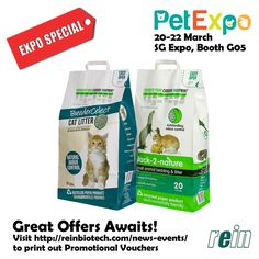Come visit us at the Pet Expo 2015 in Singapore Expo from March 20-22! #reinbiotech #petexposg #petexpo2015