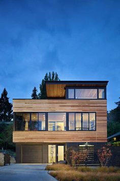architecture project cycle house Modern Refuge for an Active Couple: Cycle House in Seattle by chadbourne + doss architects Design Exterior, Modern Exterior, Residential Architecture, Interior Architecture, Seattle Architecture, Luxury Interior, Renovation Facade, Casas Containers, Scandinavian Home