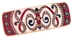 L. Erickson Cavalier Rectangle Barrette - Bordeaux Multi ** You can find more details by visiting the image link.