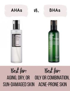 Korean Skincare Routine AHAs vs BHAs #skincaretips #koreanskincare
